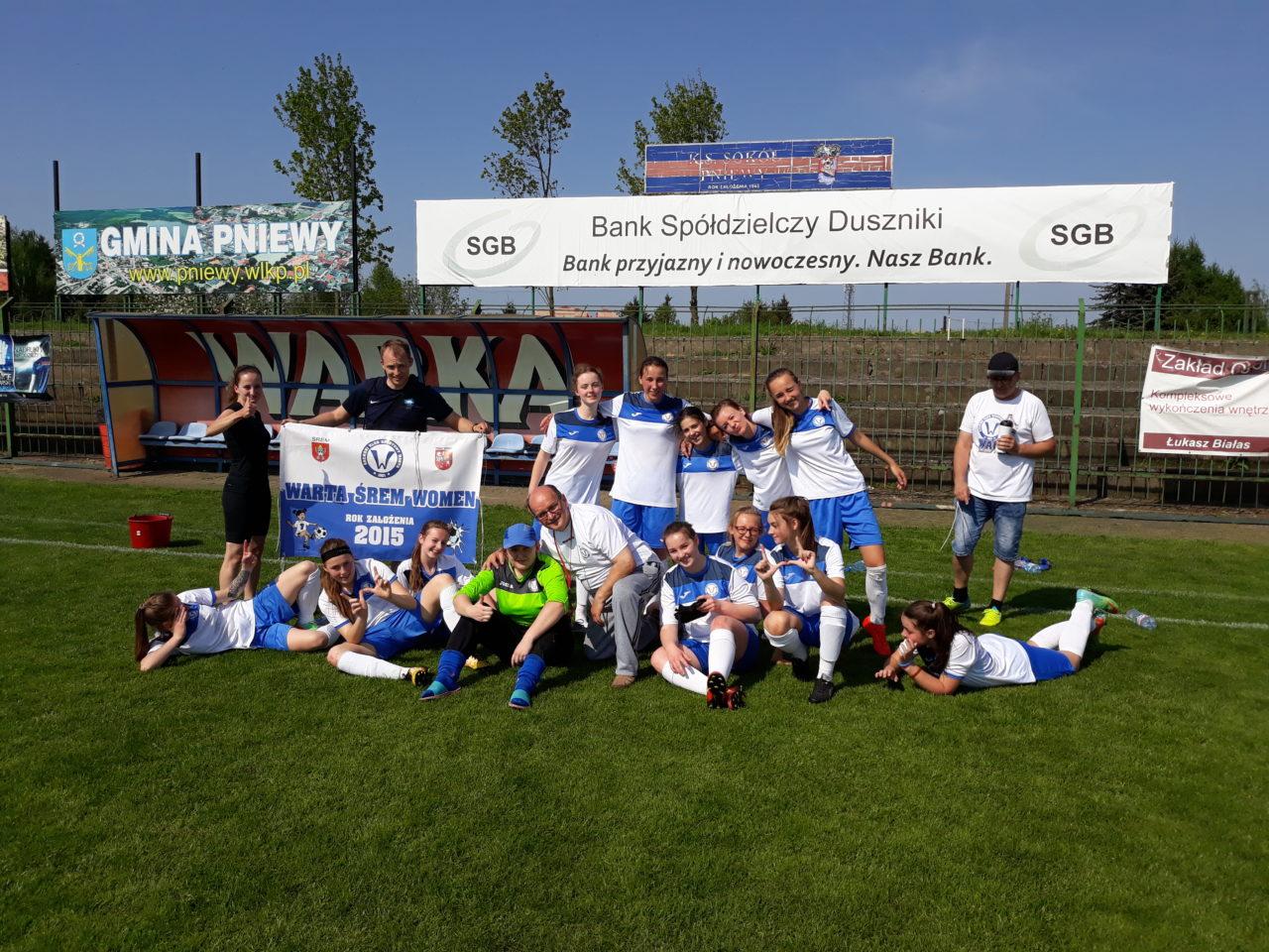 Zwycięstwo żeńskiej drużyny Warty Śrem nad Sokołem Pniewy