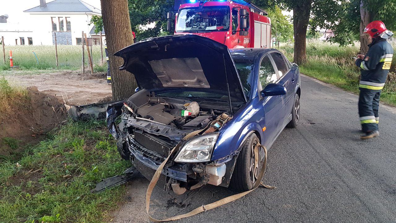 Wypadek na ulicy Platanowej w Psarskiem