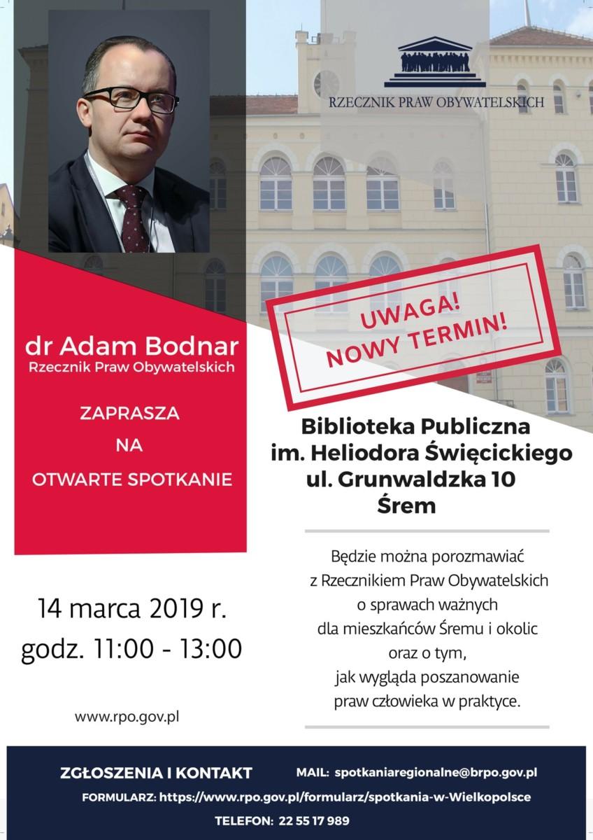 Spotkanie z Rzecznikiem Praw Obywatelskichdr Adamem Bodnarem