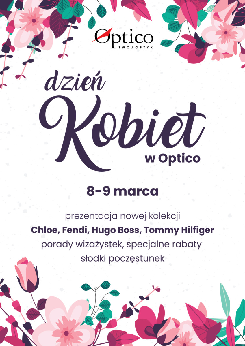 8-9 marca Dzień Kobiet w salonach Optico