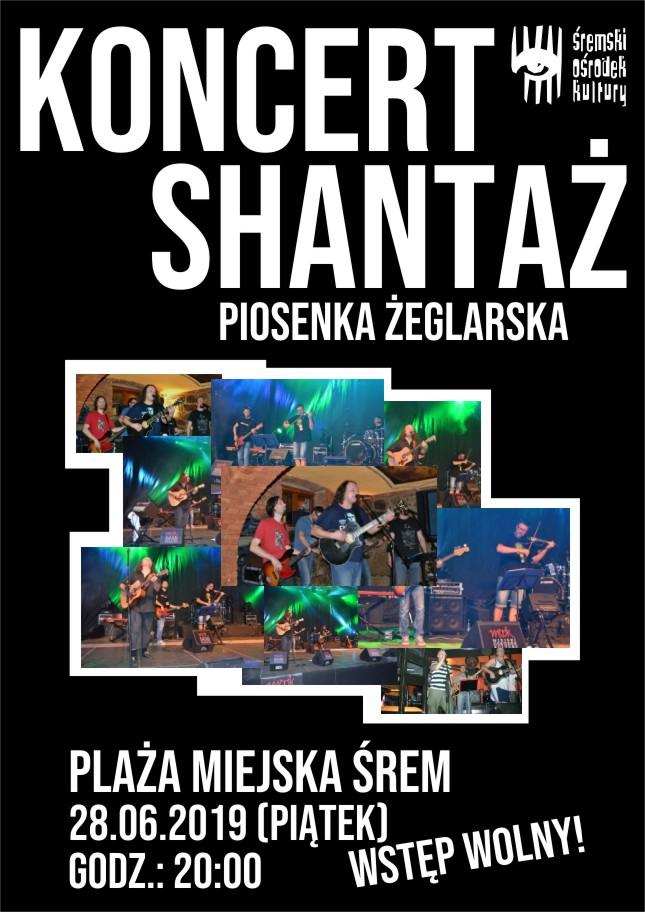 Shantaż - koncert szant na plaży miejskiej