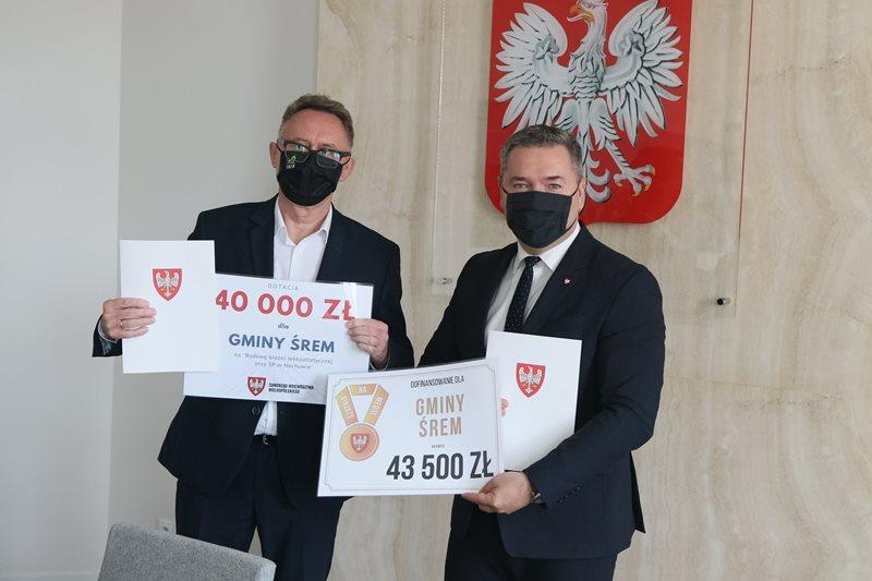 83 500 zł dla gminy Śrem na budowę bieżni lekkoatletycznej w Nochowie oraz szatni w Dąbrowie