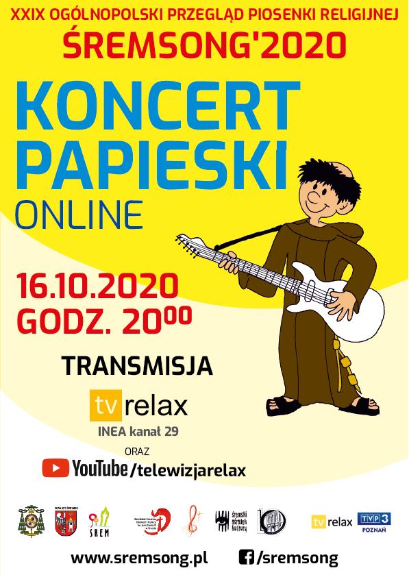 Śremsong 2020: Koncert Papieski online