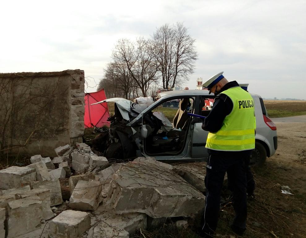 Tragiczny w skutkach wypadek na drodze Marianowo - Grabianowo